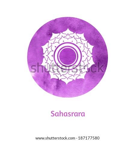 Sahasrara chakra. Vector Illustration. - stock vector