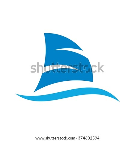 sail logo vector.