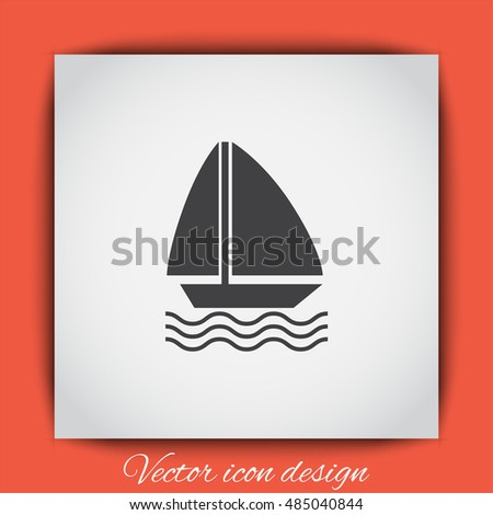 Sailboat vector icon. Boat sign. Yacht symbol