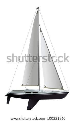 Sailing boat - stock vector
