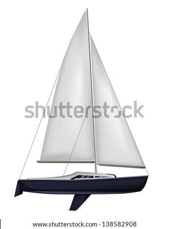 Sailing boat isolated