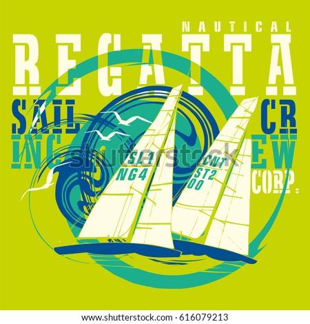 Sailing regatta logo