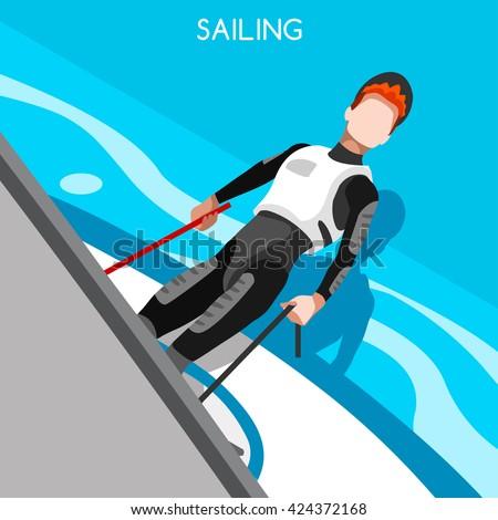 Laser sailing logo