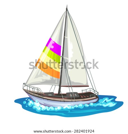 Sailing ship yachts - stock vector