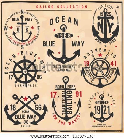Sailor Collection - stock vector
