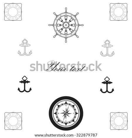 Sailor greeting card. Vector illustration.