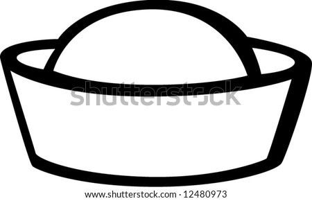 Navy Hat Clipart Sailor Hat Stock Vecto...