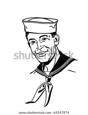 Sailor - Retro Clipart Illustration