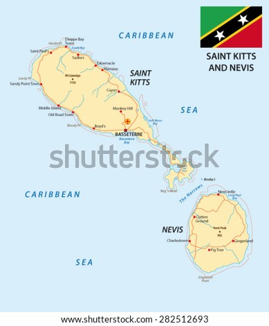Saint Kitts And Nevis Flag Stock Images RoyaltyFree Images - Saint kitts and nevis map