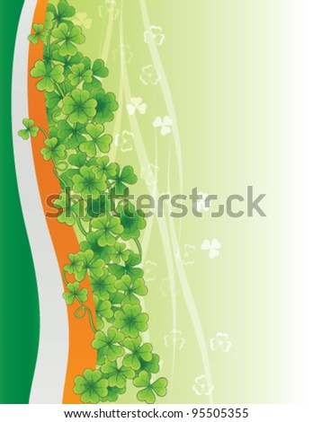 Saint Patrick's day background, vector - stock vector