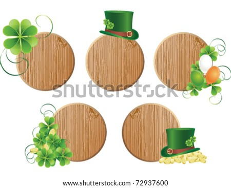 Saint Patrick's day banners, vector - stock vector