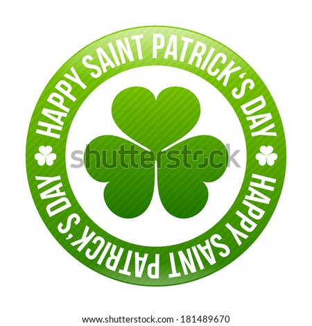 Saint Patrick's day design - Shamrock emblem - stock vector
