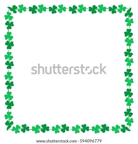saint patricks day green clover clip stock vector 594096779 rh shutterstock com Summer Clip Art Borders St Patrick's Day Clip Art