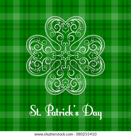 Saint Patrick's Day greeting card. Vector illustration in retro style - stock vector
