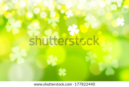 Saint Patrick's Day Vector Background - stock vector