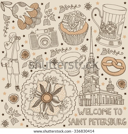 saint petersburg. russia - stock vector