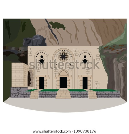 Saint Pierre, Church, vector