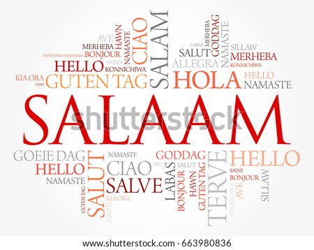 Salaam hello greeting persian farsi word cloud stock photo photo salaam hello greeting in persianfarsi word cloud in different languages of the m4hsunfo