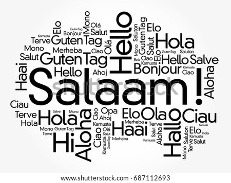 Salaam hello greeting persianfarsi word cloud stock vector 687112693 salaam hello greeting in persianfarsi word cloud in different languages of the m4hsunfo