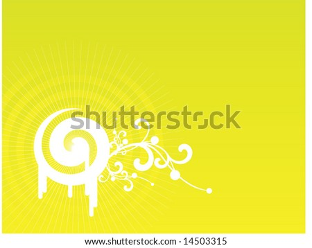 Salad dreams floral and spiral vector composition - stock vector