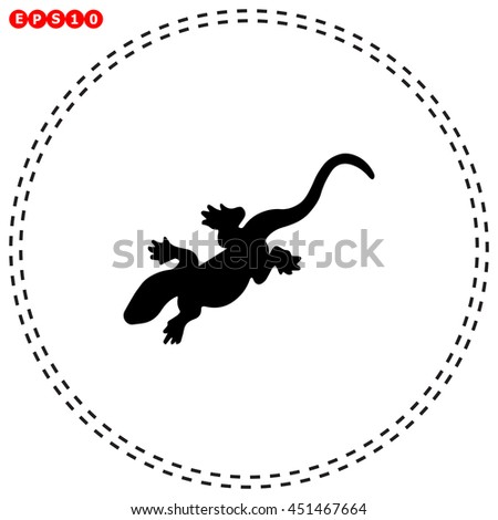 Salamander icon. Black icon on white background.