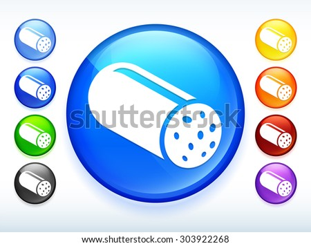 Salami on Colorful Round Button