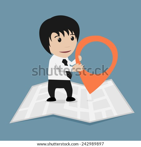 Salary man amd map symbol
