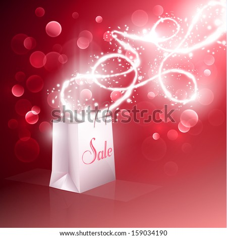 Sale - abstract background with shopping bag - eps10 - stock vector