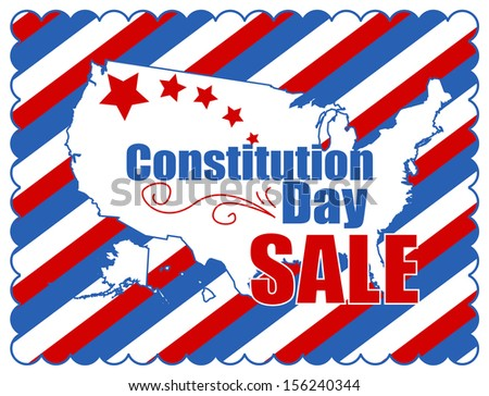 sale background - Constitution Day Vector Illustration