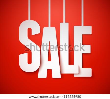 Sale background. Vector. - stock vector