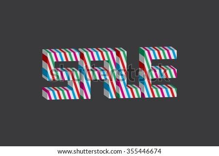 Sale  background, vector eps10 illustration - stock vector