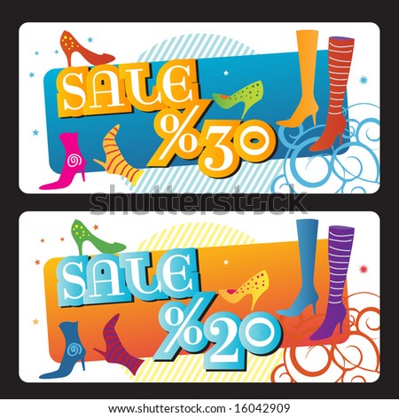 Sale Banner, Background, Etiquette. Vector Illustration. For other Vector Illustrations visit my gallery. - stock vector