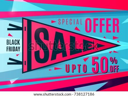 Sale Banner Design Black Friday Poster Stock Vector 738127186