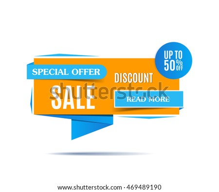 Sale banner on a white background. Sale poster, sale tag. Sale image. Beautiful yellow and blue discount poster, special offer. Banner design. Discount banner. Vector illustration, eps 10