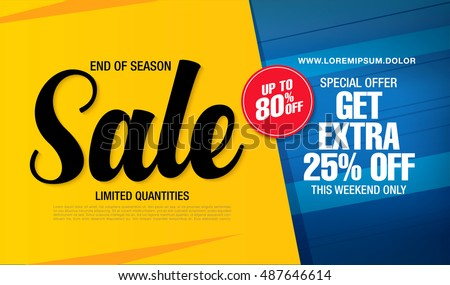 Sale stock images royalty free images vectors shutterstock sale banner template design pronofoot35fo Choice Image
