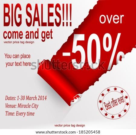 Sale banner. Vector eps 10 - stock vector