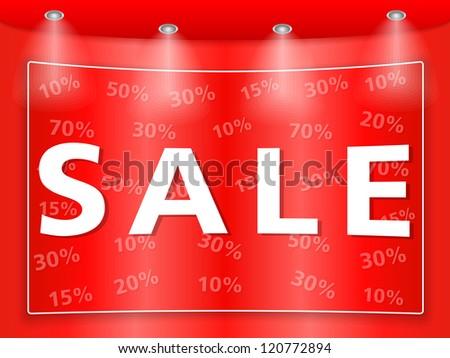 Sale banner, vector eps10 illustration - stock vector