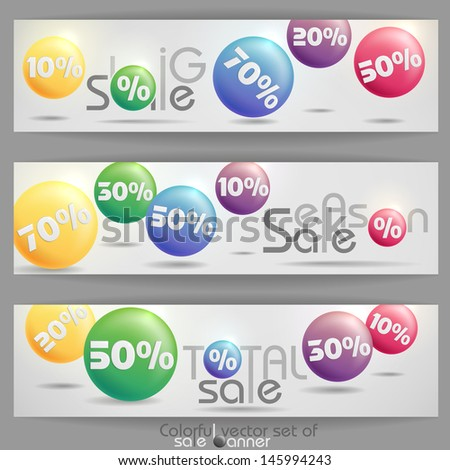 Sale banner.  Vector illustration. Eps 10.
