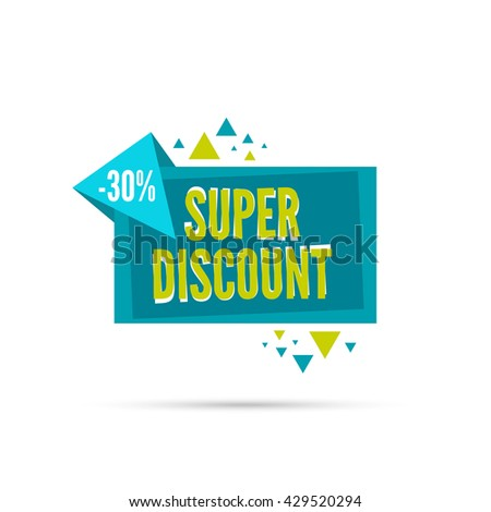Sale banner. Vector tag. special offer, price. 30 percentage.  30 percentage. Super discount - stock vector