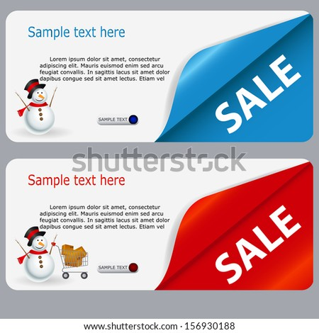 Sale banner with place for your text. vector illustration - stock vector