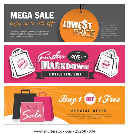 Sale banners design - stock vector