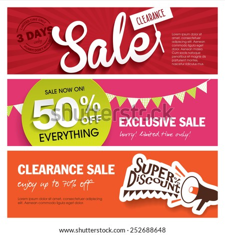 Sale Banner Stock Images, Royalty-Free Images & Vectors | Shutterstock