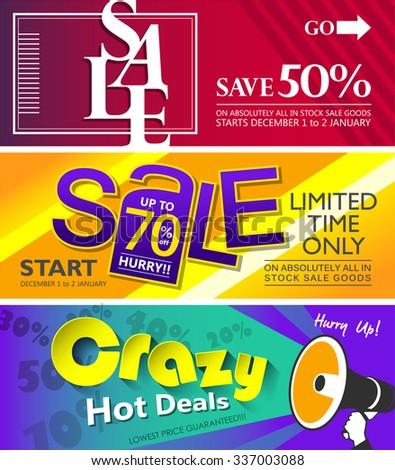 Sale banners design - stock vector