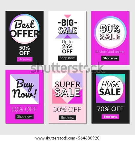 Sale Banners Set Ads Web Templates Stock Vector Shutterstock - Web templates for sale