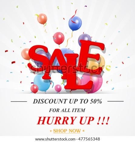 Sale celebration design with percent discount