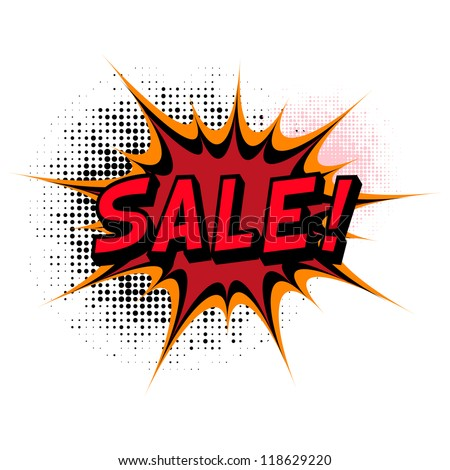 Sale. Comic book explosion. - stock vector