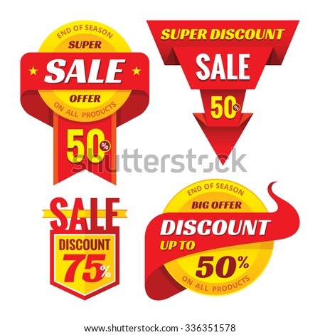Sale - creative vector badges set. Special discount vector badges collection. Super offer concept stockers. Design elements. Sale layout. Sale background. Sale poster. Discount layout. Sale flyer.  - stock vector