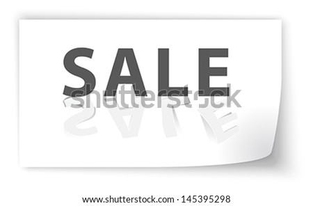 Sale cut from paper with shadows. Vector illustration
