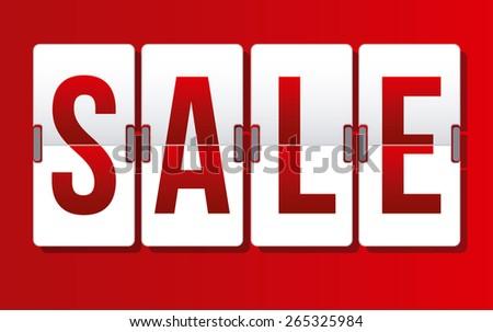 Sale design over white background, vector illustration - stock vector
