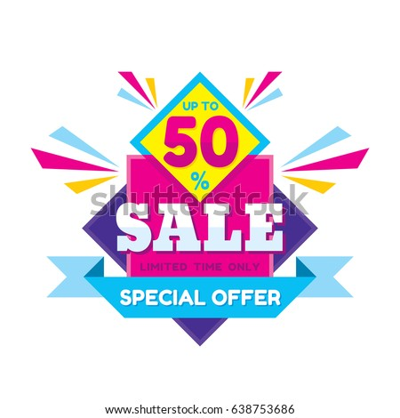 Sale Discount 50 Vector Concept Illustration Stock Vector ...